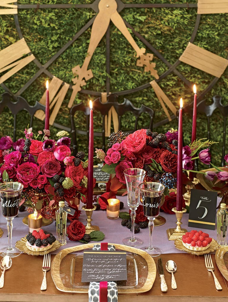 Romance Is Redefined with This Midnight Garden Wedding